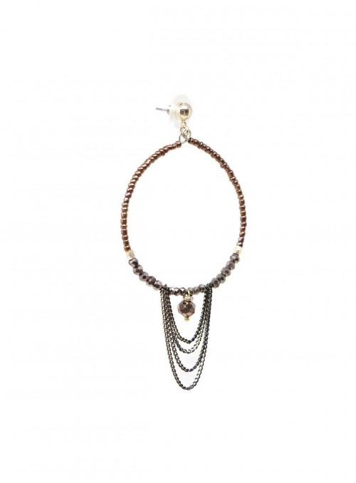 Amare Earrings Brown