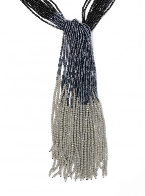 Zola Lariat Necklace Black