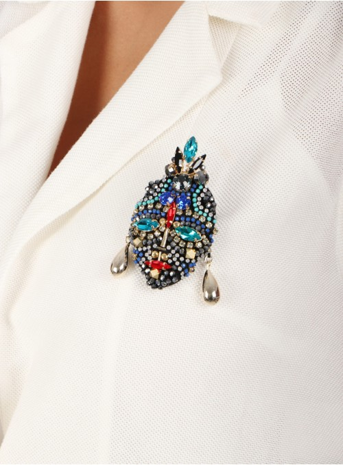 Haji Beaded Brooch