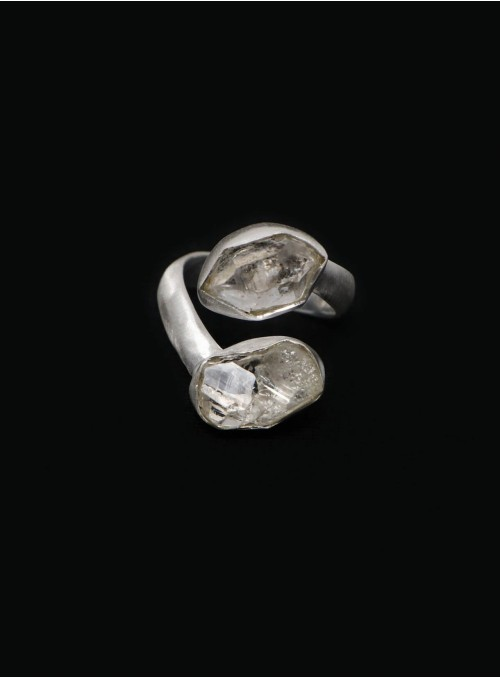 Azai Herkimer Adjustable Ring