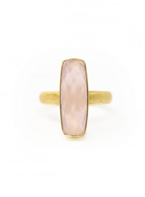 Azai Rose Chalcedony Ring