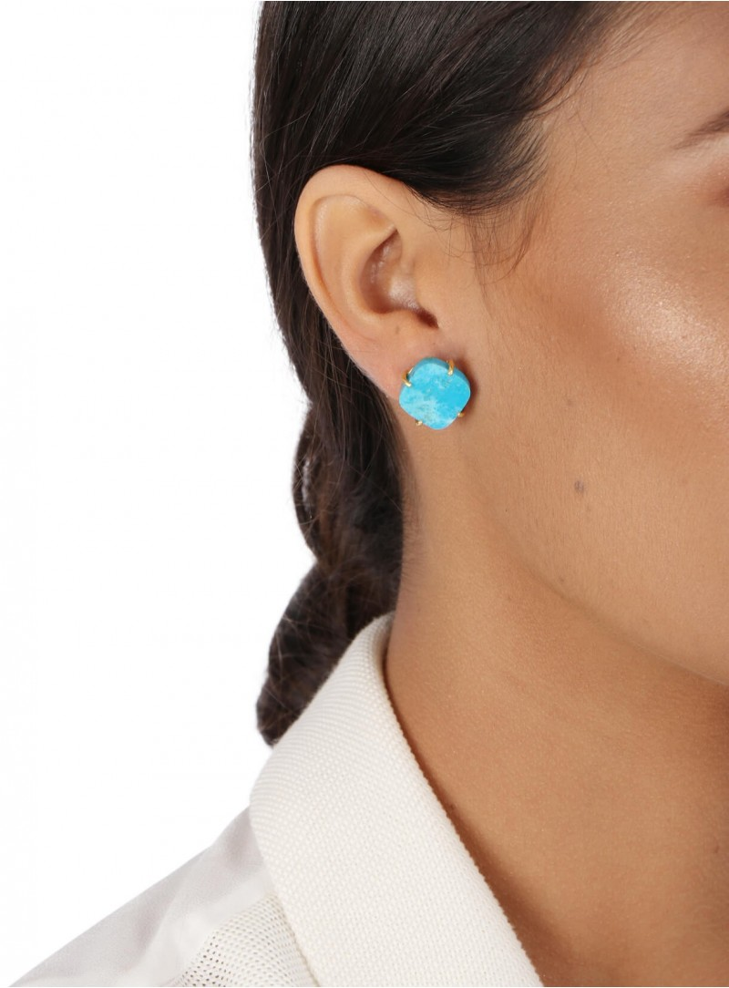 Azai Sleeping Beauty Turquoise Stud Earrings