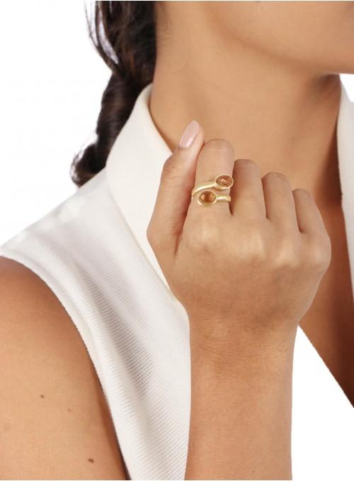Azai Citrine Ring
