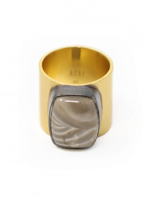 Azai Golden Rutile Ring