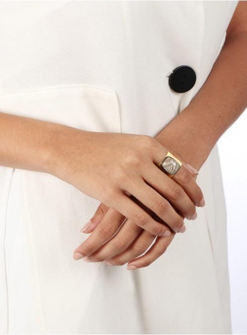 Azai Golden Rutile Ring