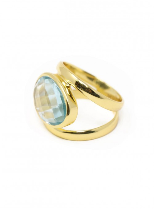 Azai Blue Topaz Sky Ring