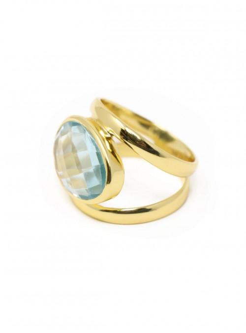 Azai Blue Topaz Sky Ring
