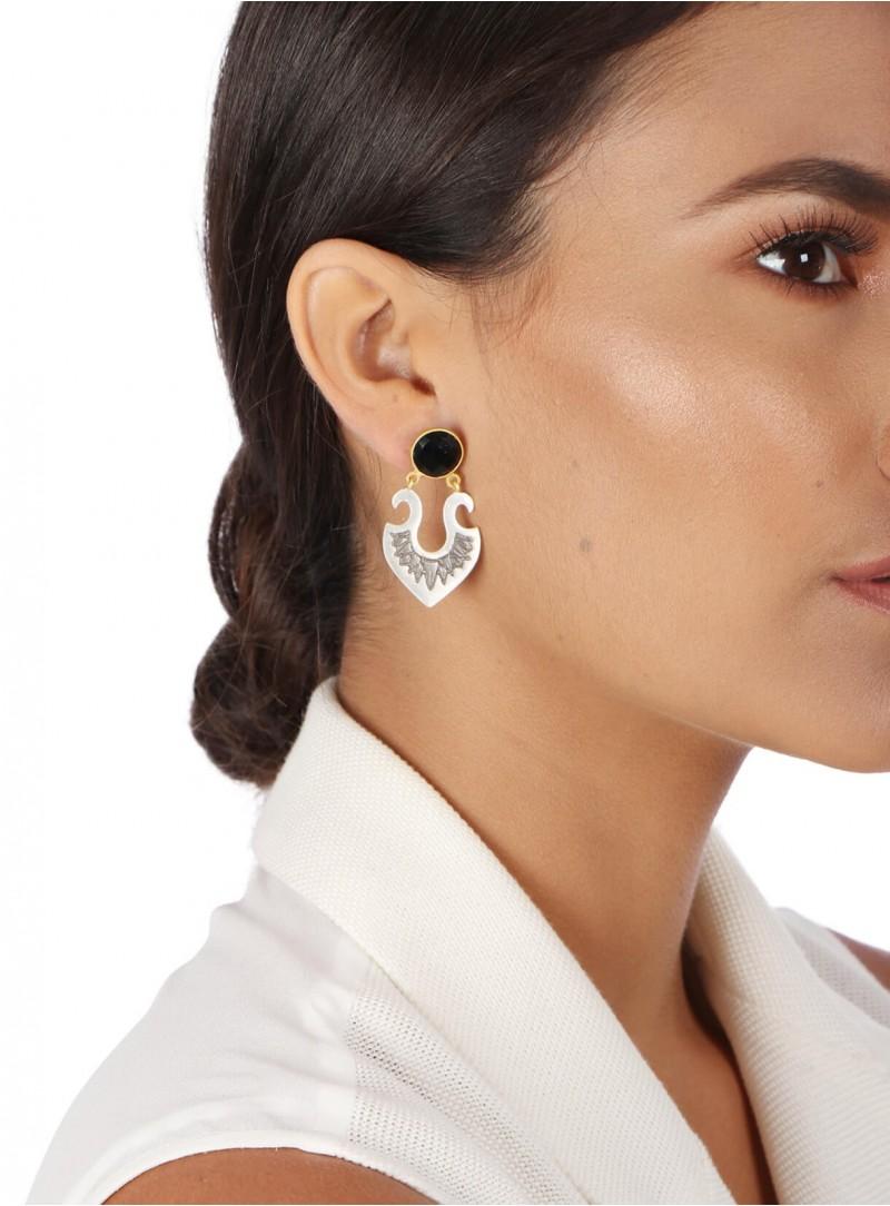 Azai Black Onyx Stud Earrings
