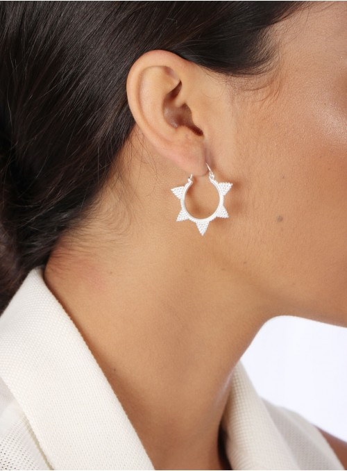 Azai  Silver Hoop Earrings