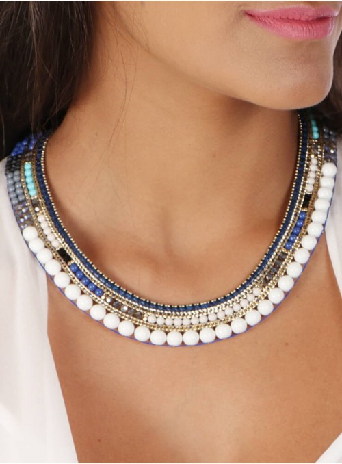 Nailah Necklace Blue