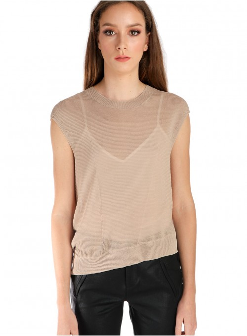 Asymmetrical Short Sleeved...