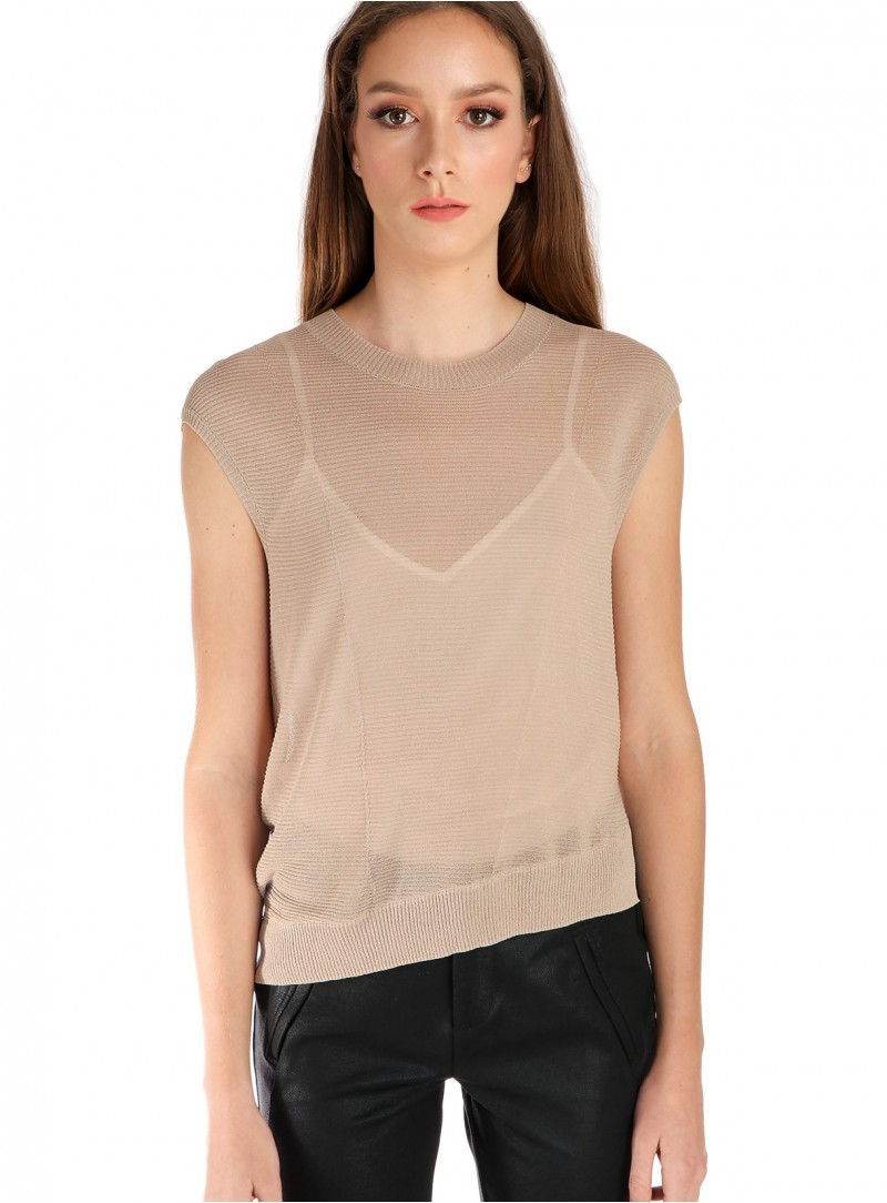 Asymmetrical Short Sleeved Sweater