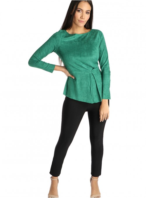 Lyra Faux Suede Top