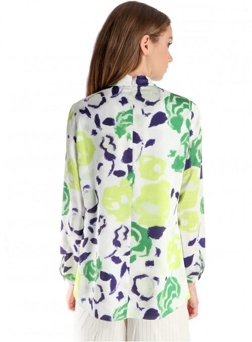 Uma Silk Printed Blouse