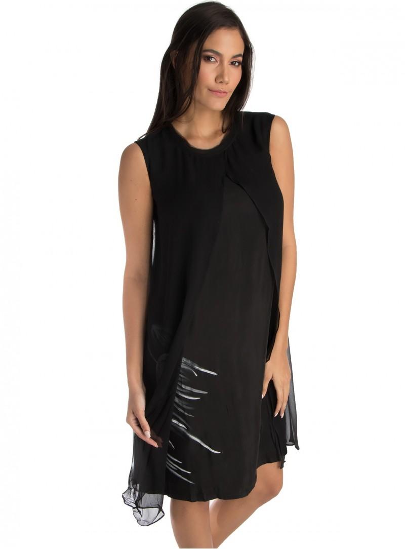 Chrysanth Sheer Overlay Dress