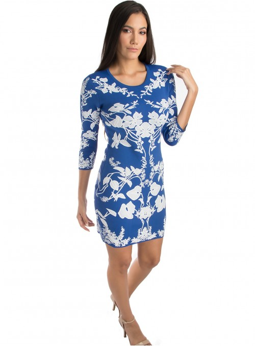 Lilly Printed Bodycon Dress