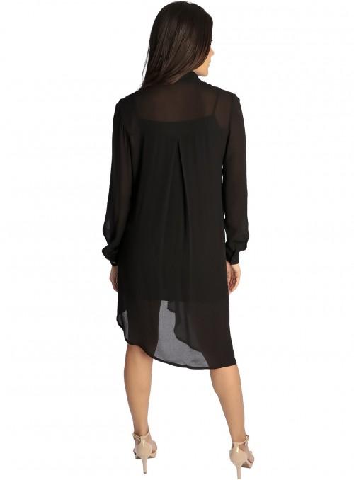Nora Ruched Dress Scarlet