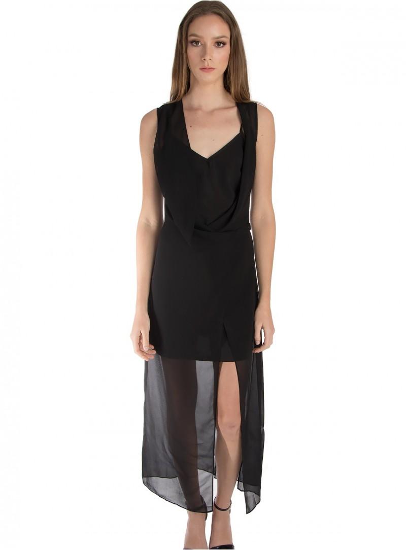 Erika Long Sheer Dress