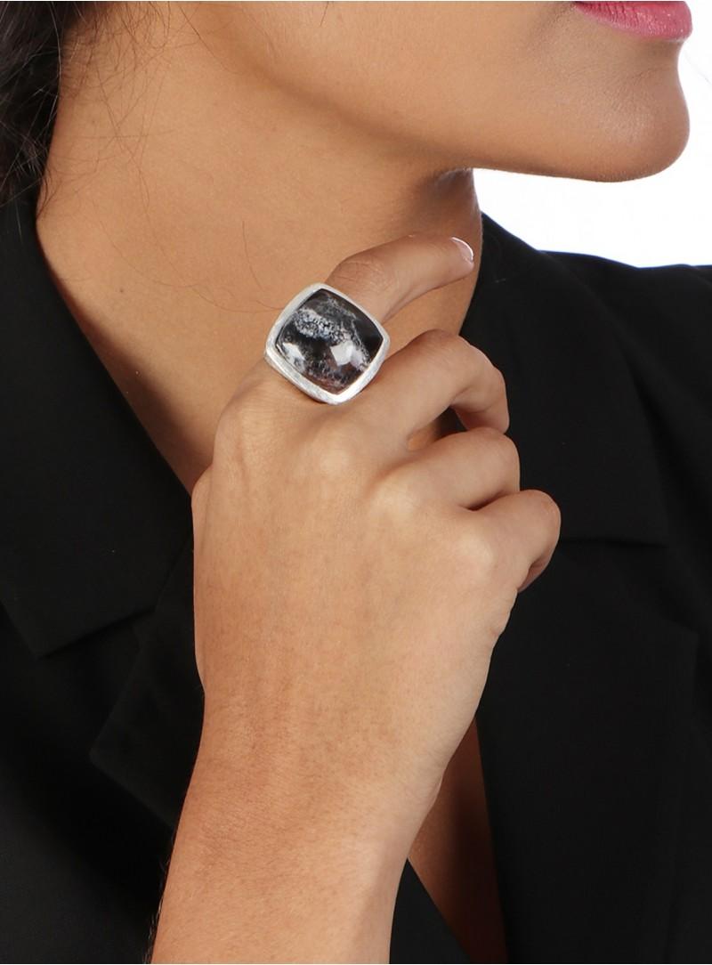 Azai Dendrite Opal Ring