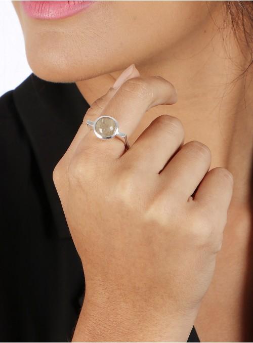 Azai Golden Rutile Gemstone Ring