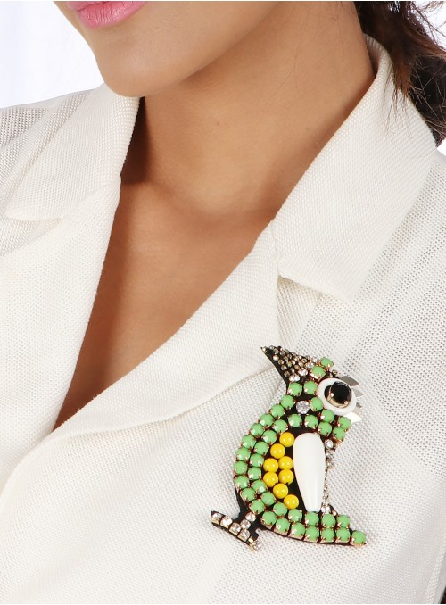 Arini Beaded Brooch