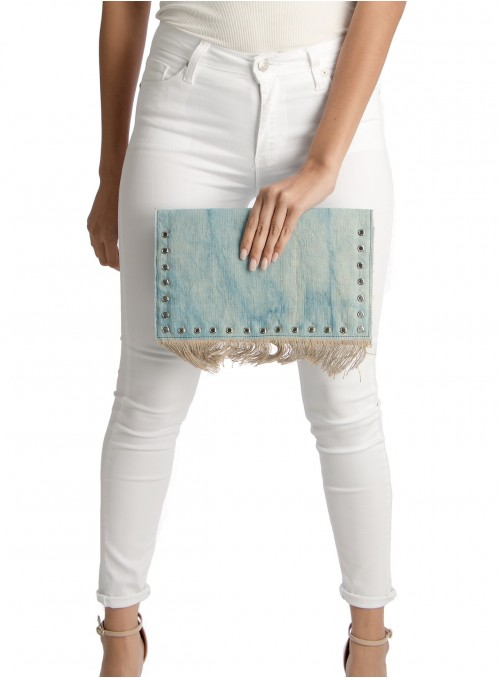 Ellie Denim Clutch