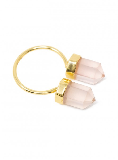 Azai Rose Quartz Ring