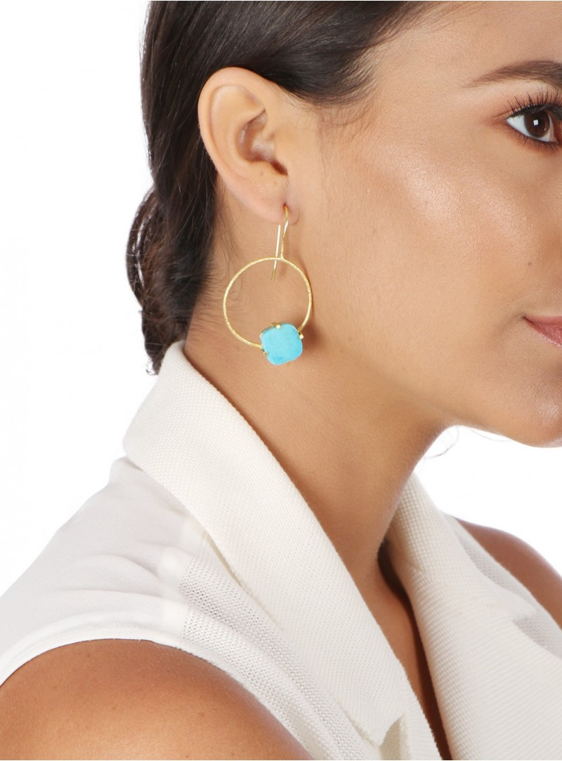 Azai Sleeping Beauty Turquoise Earrings