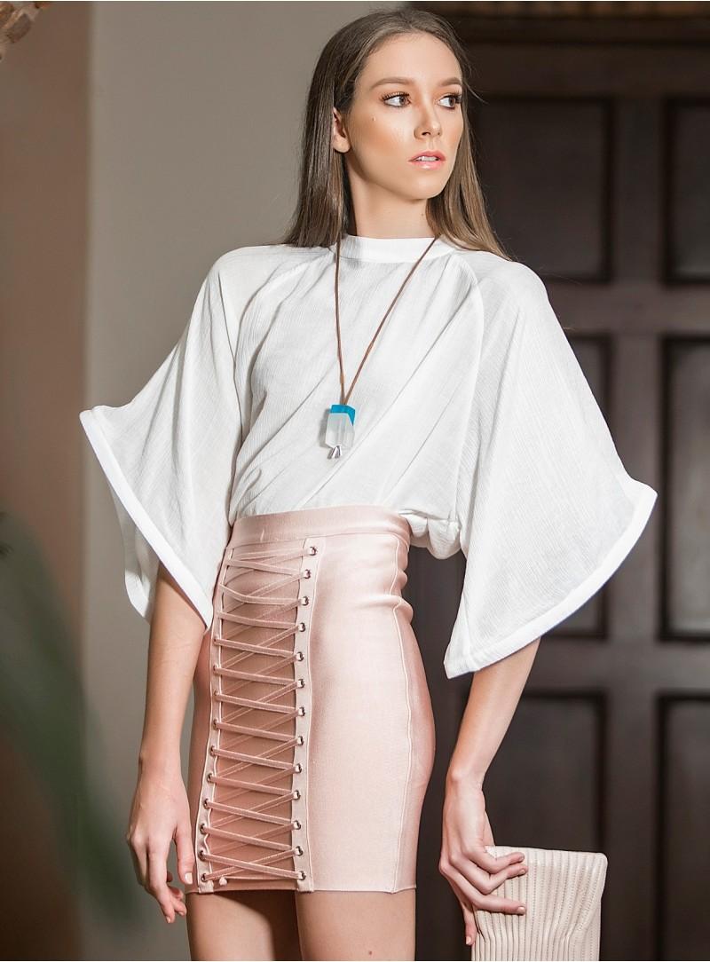 Poppy Banded Skirt
