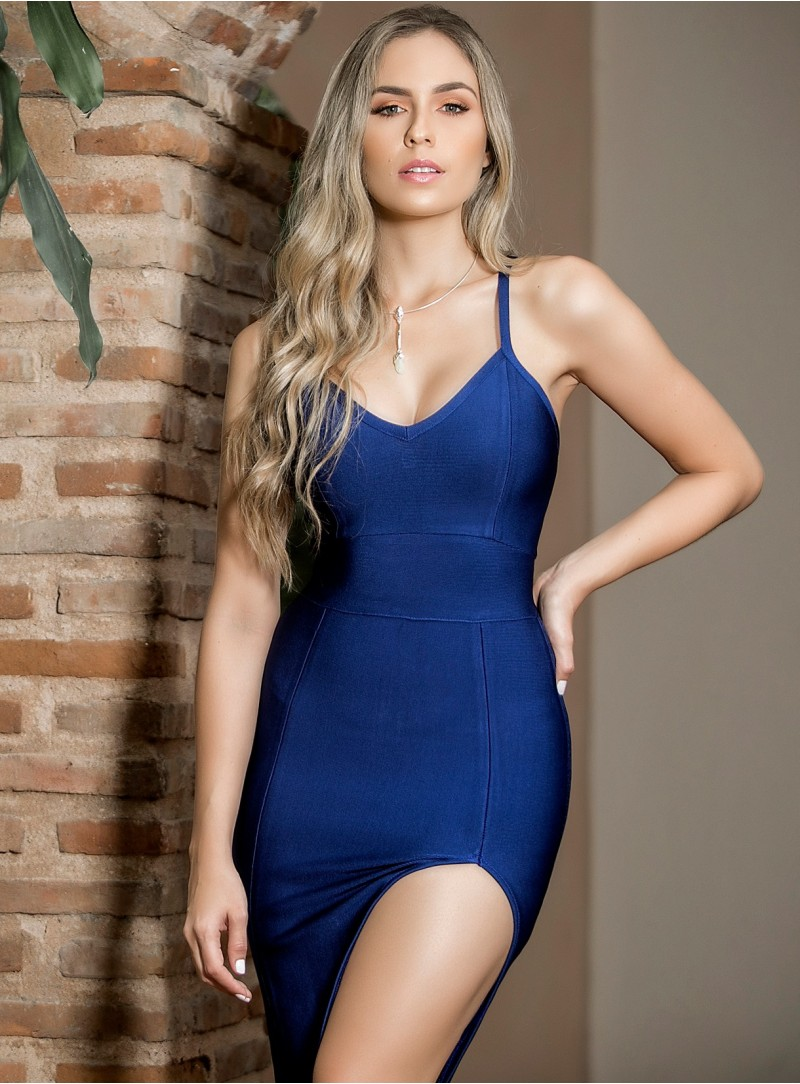 BD132 - Dresses - Dark Blue-M