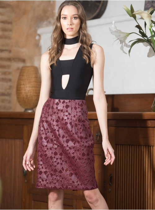 KF355 - Skirts - Wine-L-Solid