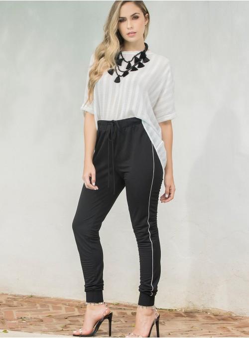 KF115 - Pants - BLACK-L-Print