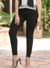 JB376 - Jeans - Black-24-Solid