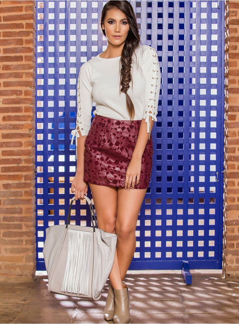 KF048 - Skirts - Wine-S-Solid