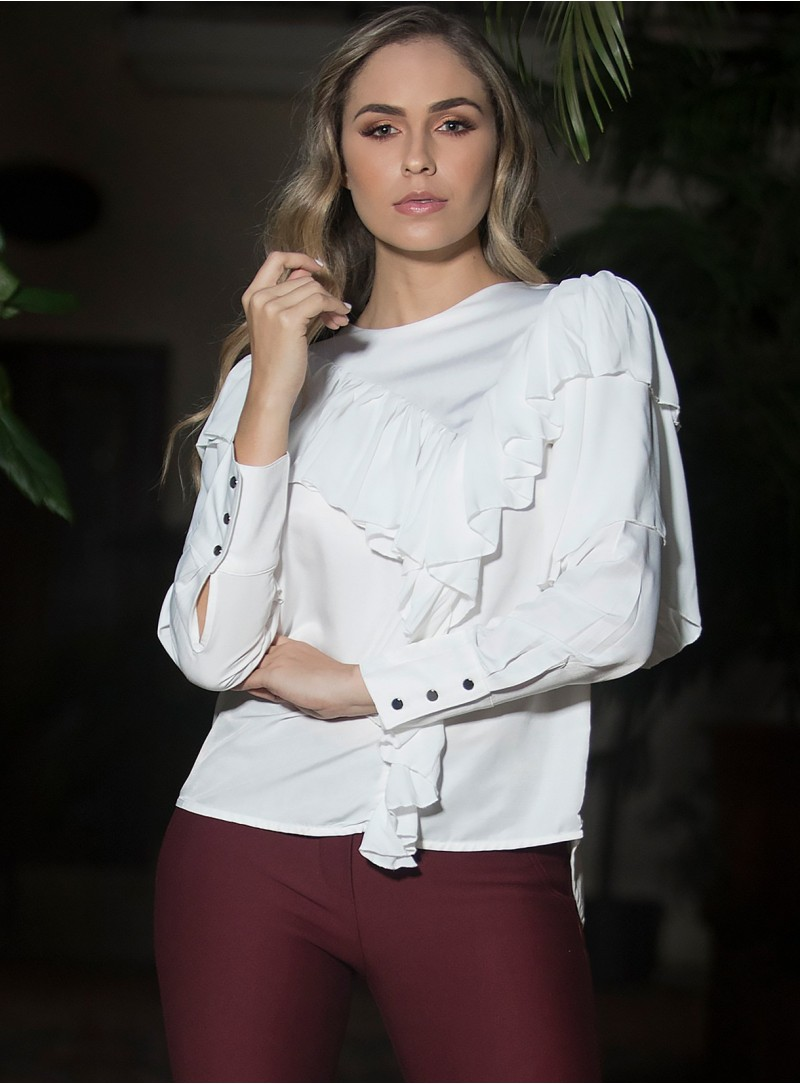 Ada Ruffled Top