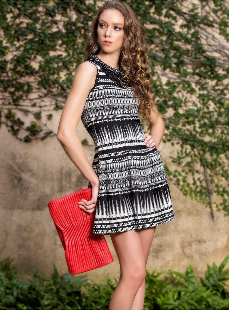 Aubin Print Skater Dress