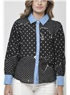 Seth Black Covered Button Shirt